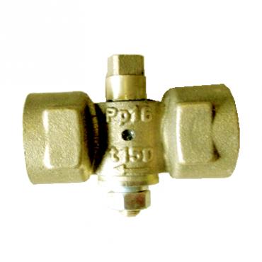 Кран пробковый трехходовой 11б18бк Ду15 (под манометр)
