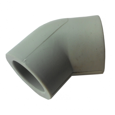 Колено (угольник) PP-r 63 45° Hakan