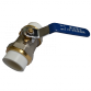 Кран шаровый латунный Ду32 к ППр трубе 40