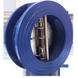 Клапан обратный двухстворчатый межфланцевый DDSCV-16 Ду65