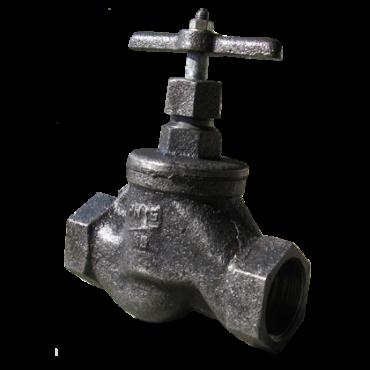 Клапан запорный муфтовый 15кч33п Ру16 Ду20