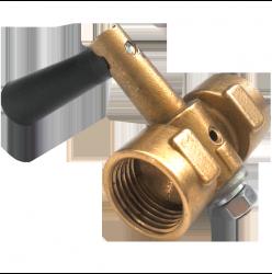 Кран пробковый трехходовой 11б18бк Ду15 (под манометр) с ручкой