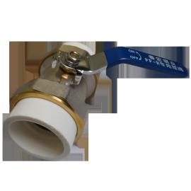 Кран шаровый латунный Ду50 к ППр трубе 63