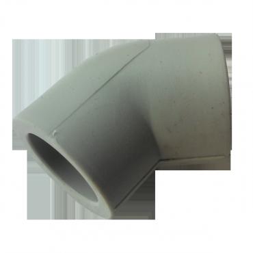 Колено (угольник) PP-r 50 45° Hakan