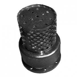 Клапан обратный приемный с сеткой фланцевый 16ч42р Ду100