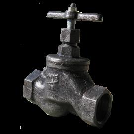 Клапан запорный муфтовый 15кч33п Ру16 Ду15